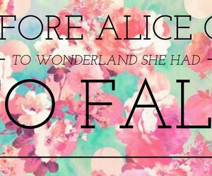 alice, fall, and flowers image