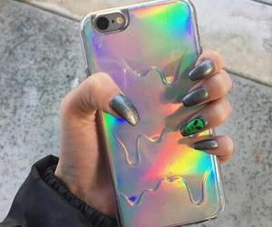 alien, glitter, and nail art image