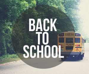 school, bus, and back to school image