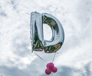 balloon, birthday, and Letter image