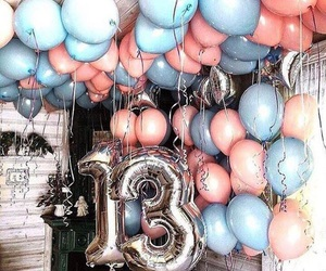 13, balloon, and birthday image