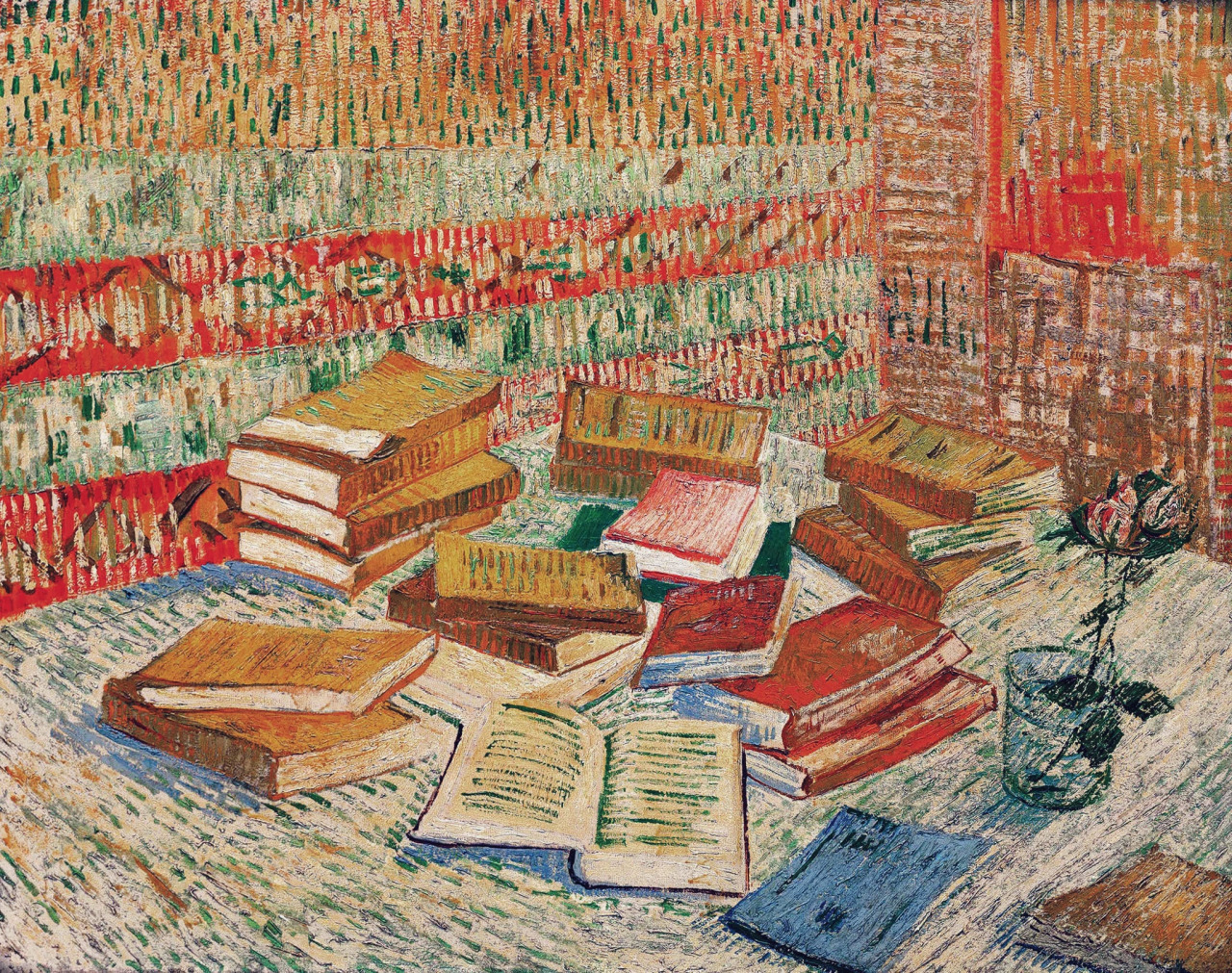 art, books, and painting image