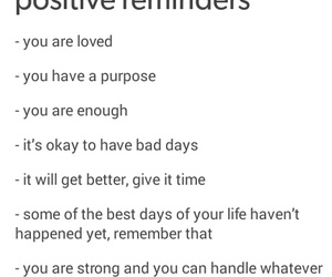 reminders, tumblr, and positive reminder image