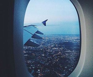 travel, city, and plane image