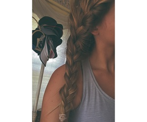 blonde, braids, and brunette image