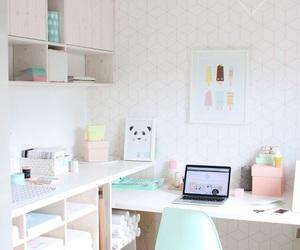 decor, desk, and pastel image