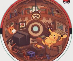 pokemon, pikachu, and pokeball image