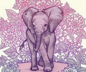 elephant, wallpaper, and art image