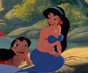 disney, jasmine, and disney mermaid image