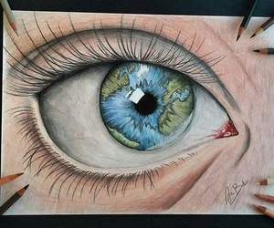amazing, eye, and art image