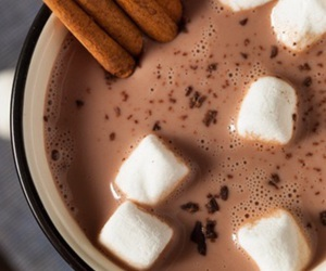 chocolate, marshmallow, and winter image