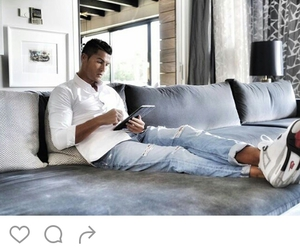 chill, cristiano ronaldo, and free time image