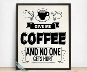 coffee, etsy, and wall decor image