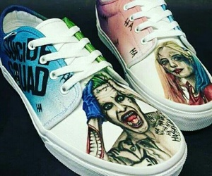 joker, harley quinn, and suicide squad image