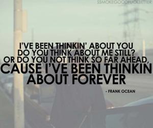 forever, thinkin, and Lyrics image