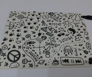 arte, black and white, and doodle image