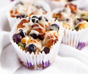 food, cupcake, and fruit image