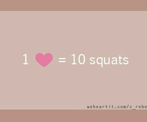 squats, fitness, and heart image