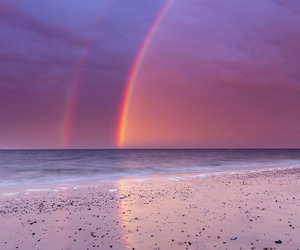 rainbow, sky, and photography image