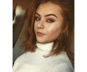 eyebrows, redhead, and teenager image