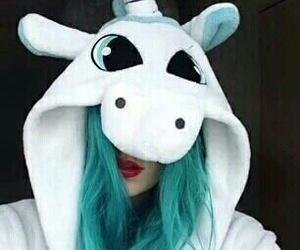 unicorn, blue, and tumblr image