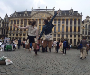 travel, bruxelles, and friendship goals image