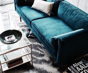 blue, interior, and design image
