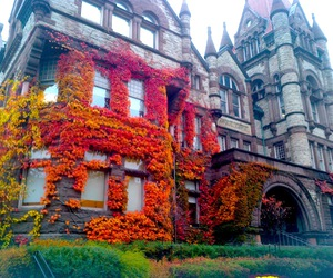 castle, house, and autumn image