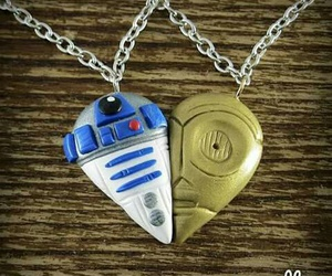 star wars, necklace, and r2d2 image
