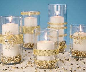 glitter, velas, and brillo image