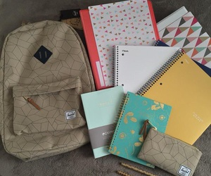 backpack, planner, and cute image