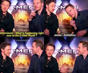 funny, james mcavoy, and x men image