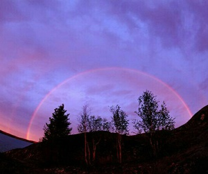 sky, purple, and rainbow image