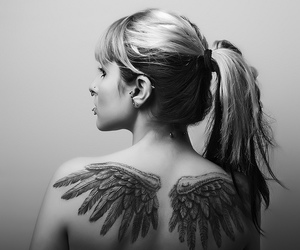 tattoo, piercing, and wings image