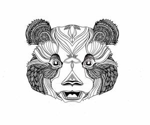 art, dessin, and panda image