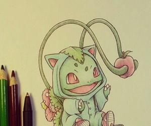 pokemon, drawing, and bulbasaur image