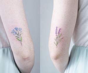 tattoo, flowers, and cute image