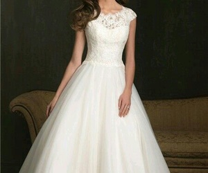 wedding dress, bridal gown, and wedding image