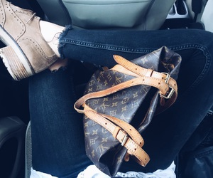 bag, outfit, and luis vuitton image