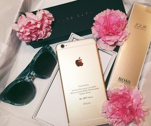 iphone, flowers, and sunglasses image