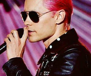 jared leto and pink hair image