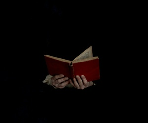 book, black, and red image