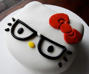 cake, hello kitty, and food image