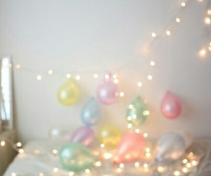 balloons, light, and pastel image