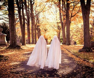 autumn, ghost, and Halloween image