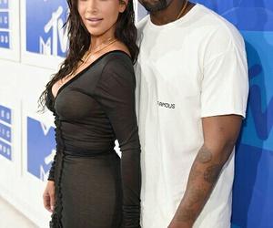 kanye west and kim kardashian image