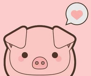 pig, pink, and kawaii image