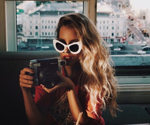cool, girl, and sunglasses image