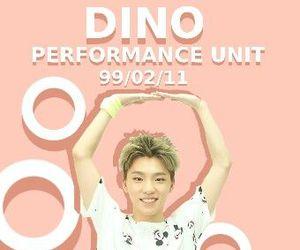 dino, kpop, and Seventeen image