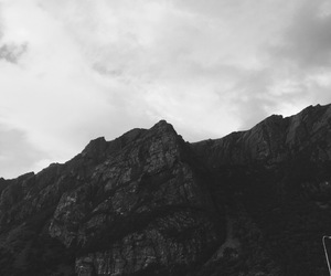 black and white, mountain, and norway image